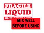 Liquid Shipping Labels