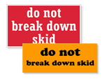 Skid Labels
