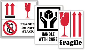 International Fragile Shipping Labels