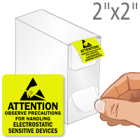 Attention Electrostatic Sensitive Devices Labels in Dispenser Box