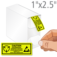 Electrostatic Sensitive Devices Caution Label Dispenser Box