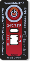 WarmMark2 Ascending Time/Temperature Indicator Tags