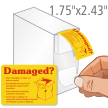 Damaged Or Open On Delivery Labels Dispenser
