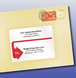 A durable mailing label