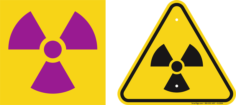 Radiation Trefoil Signs Used On Radiation Signs And
