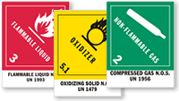 DOT Labels Preprinted with Commodity Name