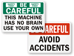 Be Careful Labels