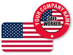 Patriotic Hard Hat Stickers