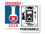 Perishable Shipping Labels