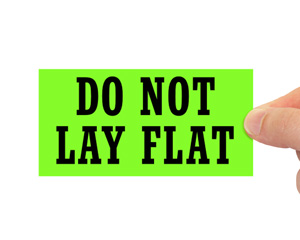 Do Not Lay Flat Labels