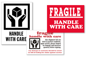 graphic about Fragile Glass Labels Printable referred to as Deal with With Treatment Labels No cost Shipping and delivery