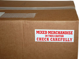 Mixed Merchandise Shipping Labels