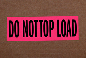 Do Not Top Load Labels