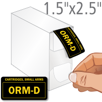 Cartridges, Small Arms ORM-D Label Dispenser