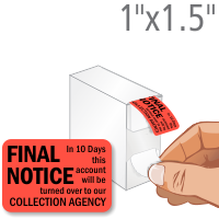 Final Notice Label Dispenser