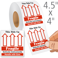 Fragile This Side Up Labels Roll
