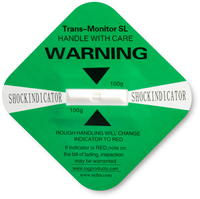 Green Shock Indicator Label