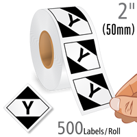 Y' Limited Quantity Labels Roll For Air Freight