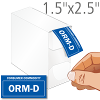 ORM-D Consumer Commodity Labels in Dispenser Box
