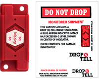 Teladrop Drop-N-Tell Resettable Shock Indicator Labels