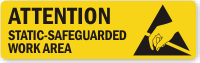 Static Safeguarded Work Area Attention Label