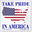 Take Pride In America Flag Label