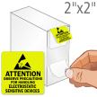 Attention Electrostatic Sensitive Devices Labels in Dispenser Box