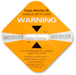 Orange Shock Indicator Label