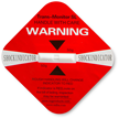 Red Shock Indicator Label