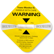 Yellow Shock Indicator Label