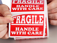 Fragile Handle Care Red Labels