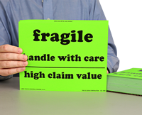 Fragile Handle Care High Value Labels