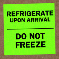 Refrigerate Do Not Freeze Labels