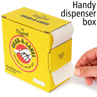 Electrostatic Sensitive Devices Grab-a-Label in Dispenser Box